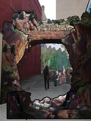 A rendering of what Mary Anne Kluth's art installation could look like, which will be created in an alley near the Weill center, across from the Black Pig.