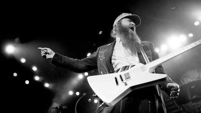 ZZ Top guitarist Billy Gibbons gets caught up in the moment during their concert at Murphy Center May 4, 1986 in Murfreesboro.