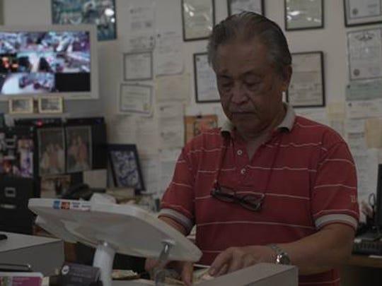 Edan Castillo at his restaurant/market