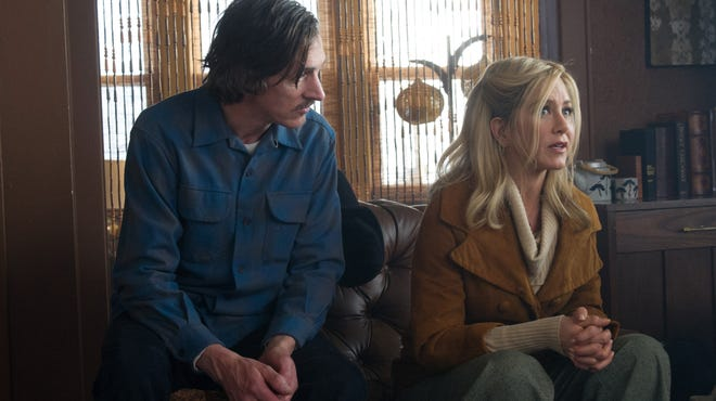 """John Hawkes, left, and Jennifer Aniston in a scene from """"Life of Crime."""""""