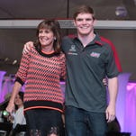 Conor Daly (pictured here with his mother, Beth) is still seeking an Indianapolis 500 ride