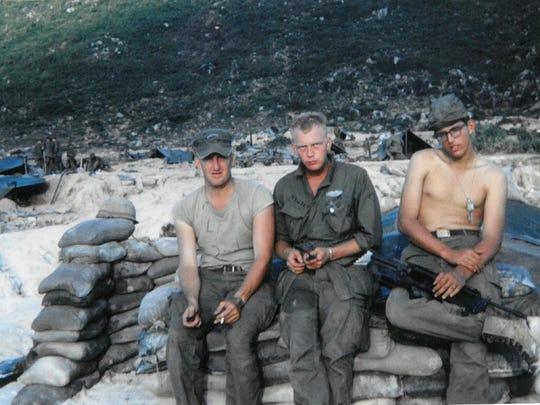 Douglas MacArthur McCrary with Army buddies