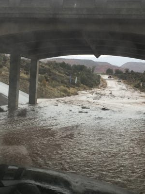 Several areas in Southern Utah flooded Sunday evening after heavy rainfall hit the area.