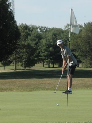 Jacob Cathelyn of Annawan-Wethersfield was the medalist on Thursday in a triangular Lincoln Trail Conference meet at Oak Run Golf Course in Dahinda.
