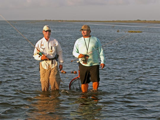 That's Capt. Justin Cooper on the right. He owns Laguna Adventures.