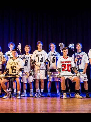 From left to right: Red Lion's Sam Emig, South Western's Nick Race, York Catholic's Eli Doyle, Eastern York's Jimmy Kurnik, Dallastown's Nate Downey, Dallastown's Ethan Pickett, Dallastown's A.J. Lentz, Susquehannock's Adam Rebich, Spring Grove's Tanner Bolton, Central York's T.J. Ross and Central York's Kollin Vaught.Not pictured: West York's Cody Richter.GameTimePA's all-star boys' lacrosse players. Picture taken Sunday, May 21, 2017, at West York.