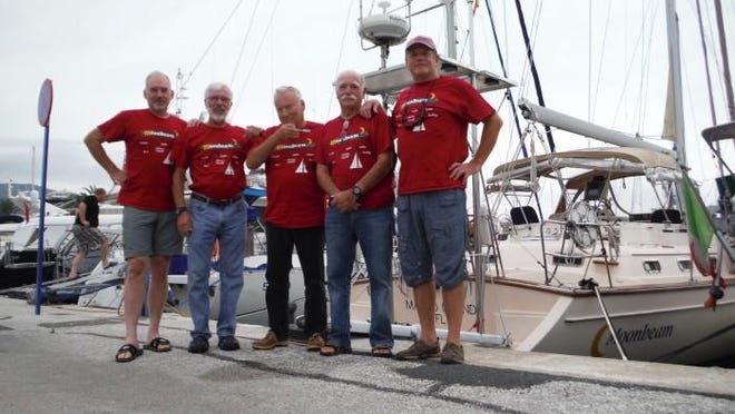 The crew for the next to the last leg are Bob Linley, Rob Reiley, Lee Henderson, Ken Bardon and Jens Rasmussen.