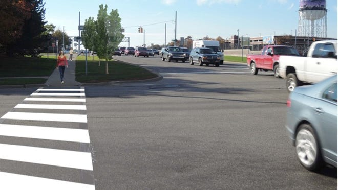 Planners unveiled suggestions on Tuesday at a pair of meetings in Pleasant Ridge for making the I-696/Woodward Avenue interchange more walkable and bikeable. The effort could include some traffic lane reductions to better accommodate bike or foot traffic. More meetings are planned in coming months to provide a final look at the proposals before they are incorporated into a complete streets master plan for the entire 27-mile Woodward Avenue corridor.