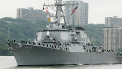 In this May 26, 2004 file photo, the USS Mahan, a guided-missile