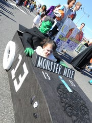 A Monster Mile entrant sped into the Sea Witch parade on Saturday.