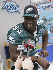 2005: Jevon Kearse, Philadelphia Eagles: Kearse played in Super Bowl XXXIV. He made one tackle with one assist in the Eagles' 24-21 loss to the New England Patriots.