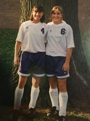 Tonya Taylor (right) ended her career at Albion as