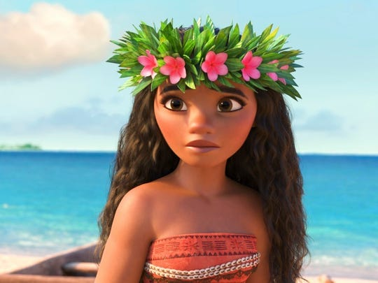 Moana, voiced by Auli'i Cravalho, in a scene from the