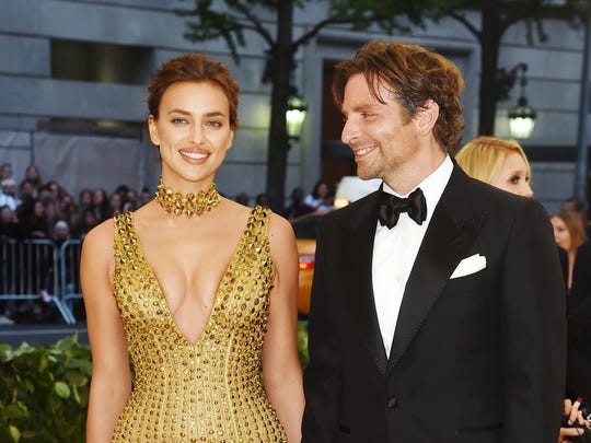 """Irina Shayk and Bradley Cooper at the """"Heavenly Bodies: Fashion & The Catholic Imagination"""" Costume Institute Gala at the Met in May. Lisa Scottoline and  Francesca Serritella have a different interpretation of """"heavenly bodies"""" when they talk about Cooper."""