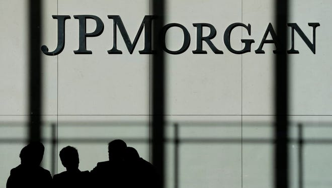 The JPMorgan Chase logo is displayed Oct. 21, 2013., at its headquarters in New York.