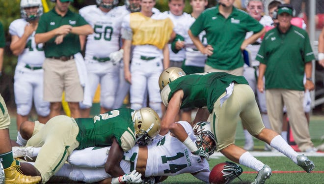 From 2016: Delbarton plays St. Joseph's in football in Montvale. The Green Knights won 28-14.