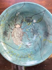 Pottery by Tracy Smoll of Indiana, one of the featured artists this summer at Woodwalk Gallery.