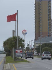 Flags are red at Pensacola Beach