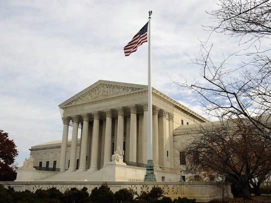 Vista exterior del Tribunal Supremo en Washington DC,