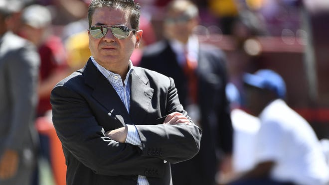 Washington owner Daniel Snyder looks over the field before a home game against Dallas, Sept. 15, 2019.