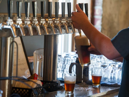 Henderson Brewing Companying poured their first brews Sunday during the Founders Club Party. The brewery is the first for Henderson in the past 100 years.