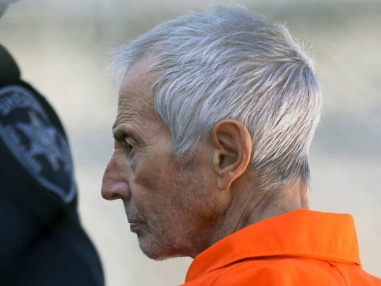 In this March 17 photo, Robert Durst is escorted into Orleans Parish Prison after his arraignment in Orleans Parish Criminal District Court in New Orleans. Police in Middlebury say they have linked Durst to the 1971 disappearance of a Middlebury College female student.
