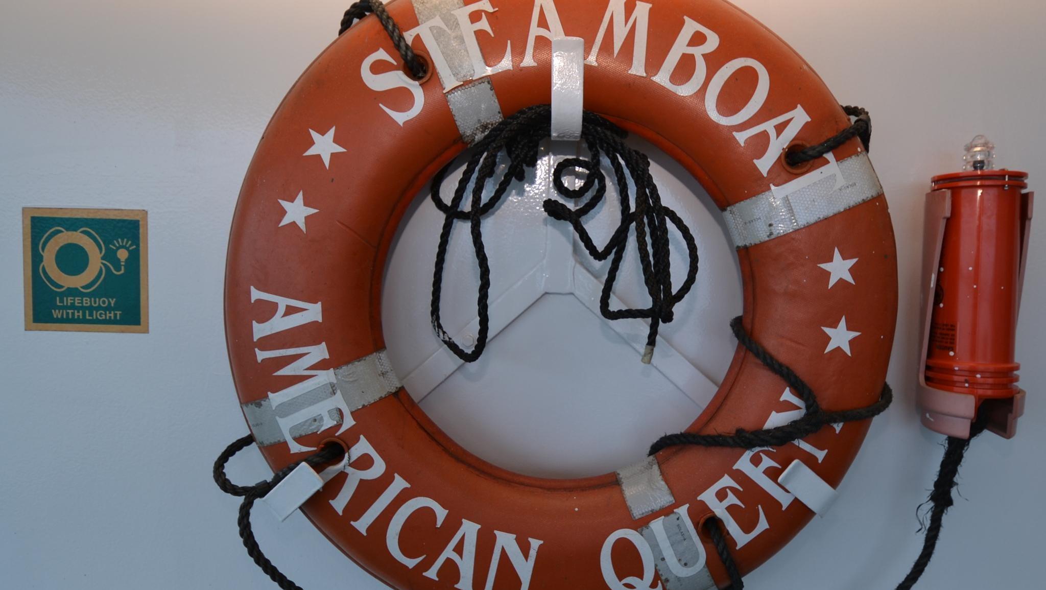 An American Queen life buoy.