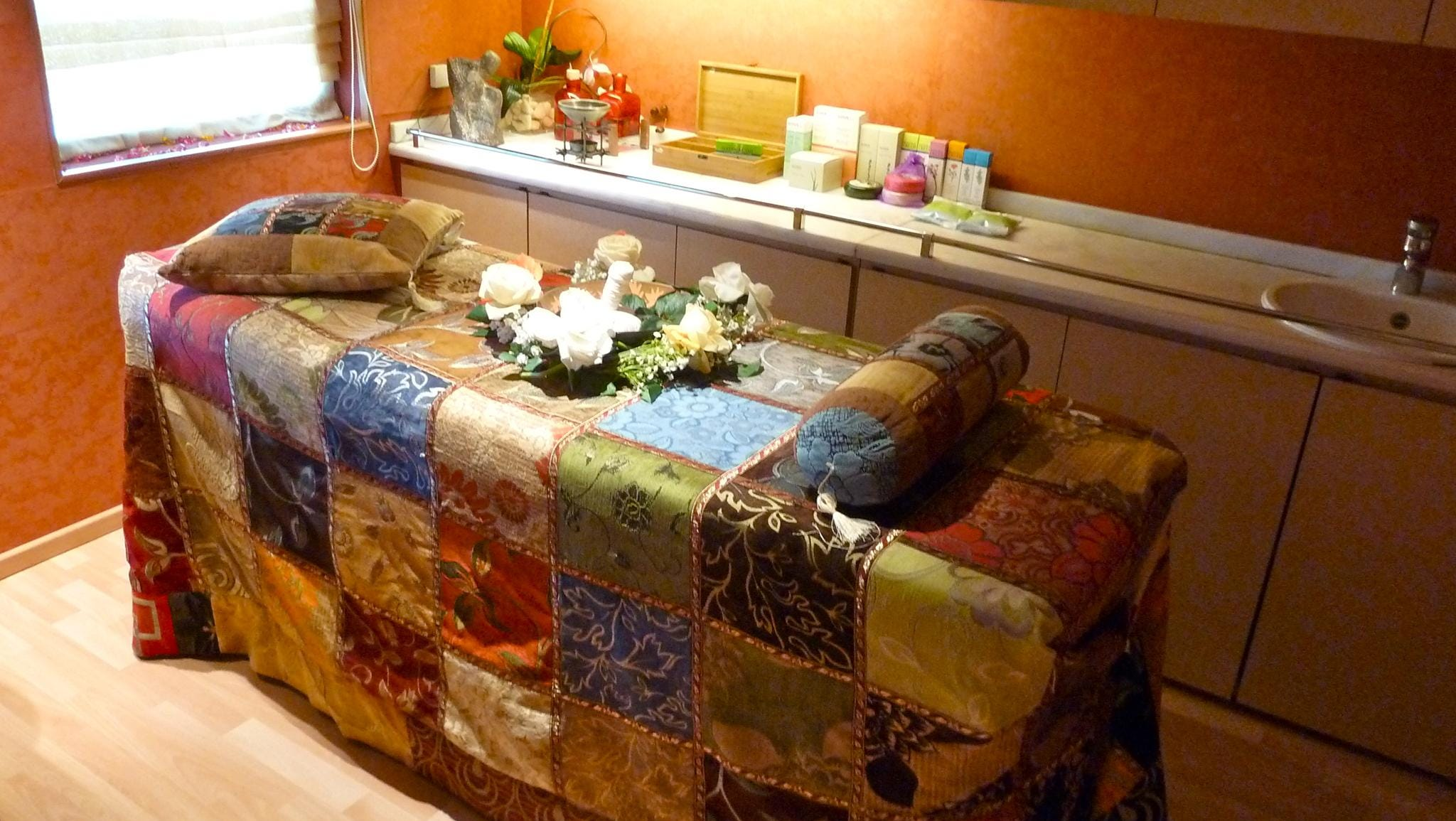Several treatment rooms in the Jade Wellness Center are the setting for a wide variety of massages and skin therapies.