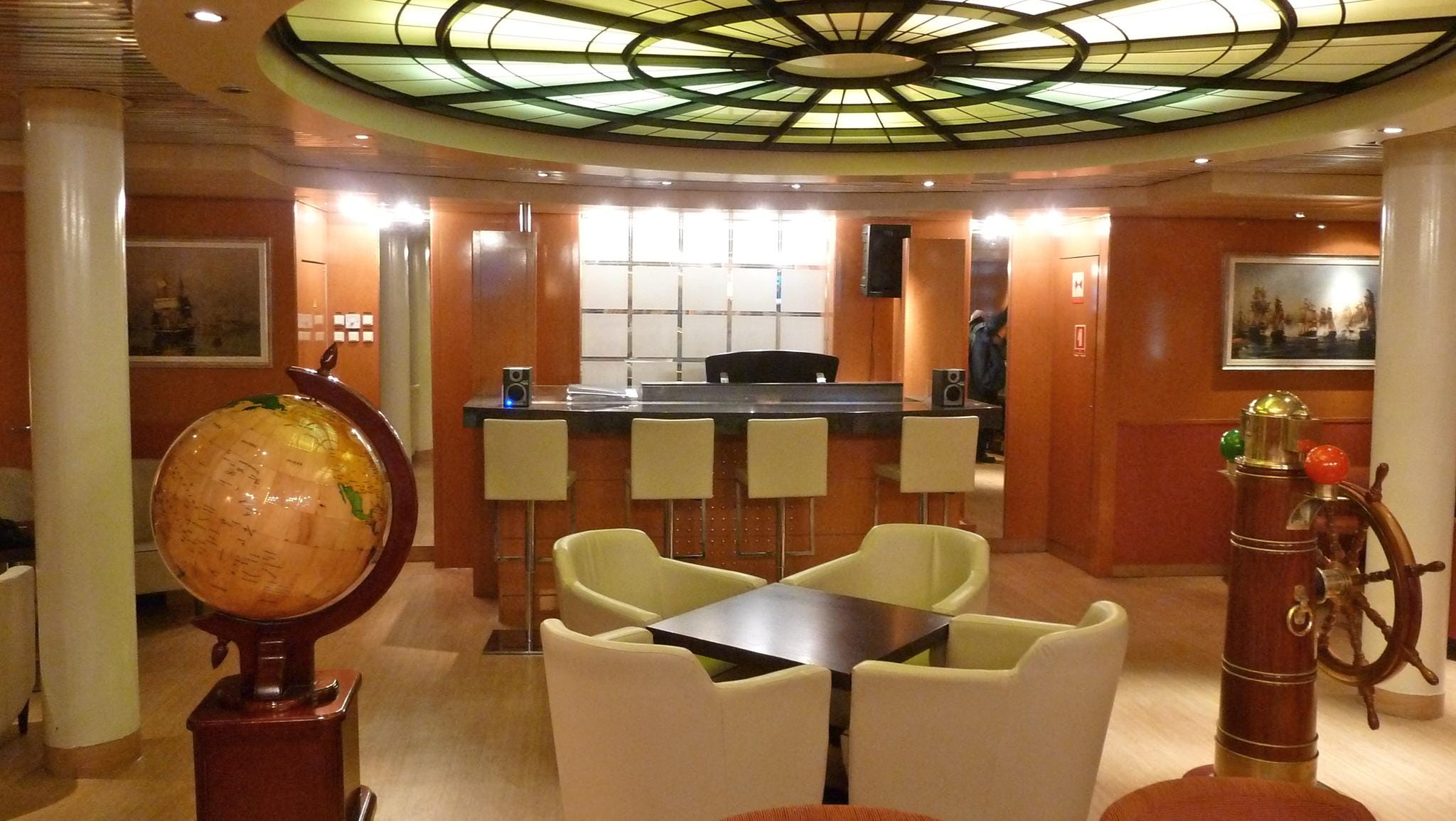 The Columbus Lounge is another popular space on Magellan Deck.