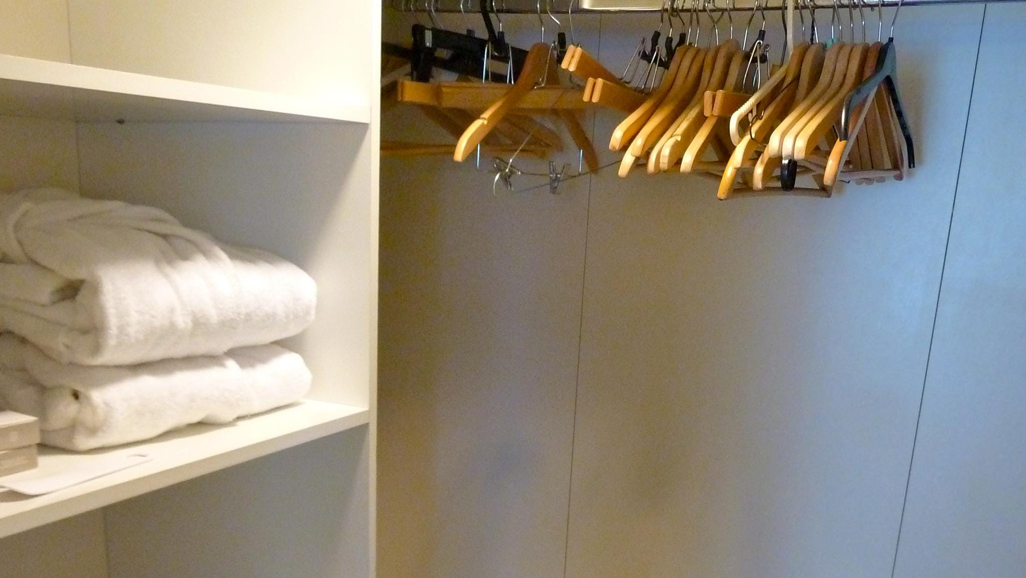 This is the walk-in closet of the Dynasty Suite.