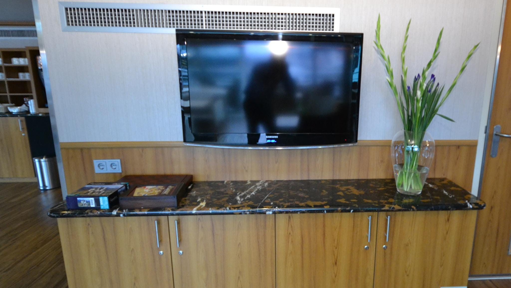 The Captain's Club also has a large flat-screen television.