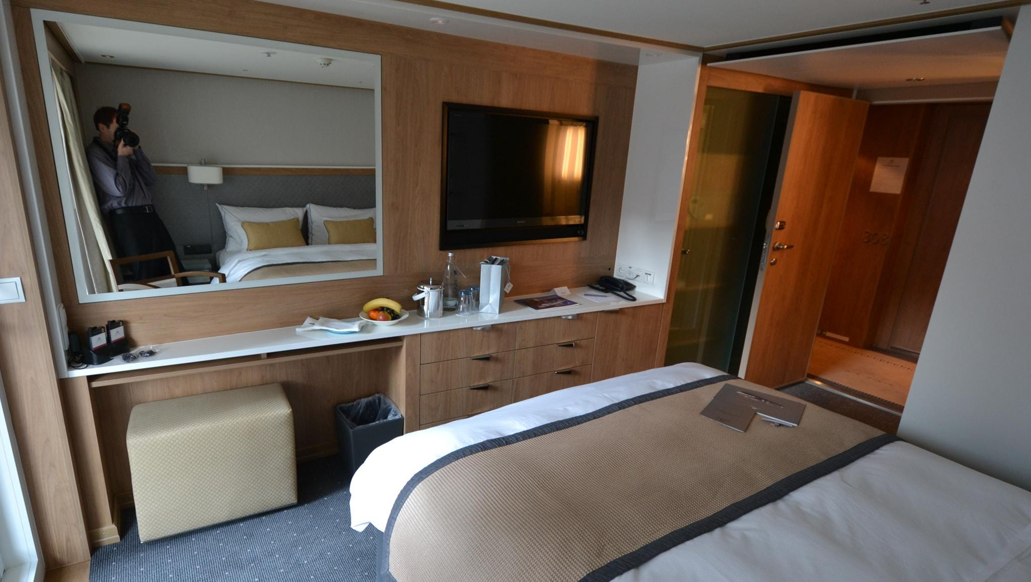 Another view of a Veranda Stateroom.