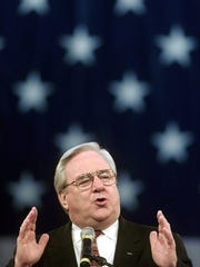 Rev. Jerry Falwell spoke to a Freedom Hall gathering
