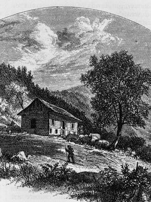 Almost everyone making the trek in the 1800s and 1900s stopped at the Mountain House to rest and refuel on the long journey to Mount Mitchell