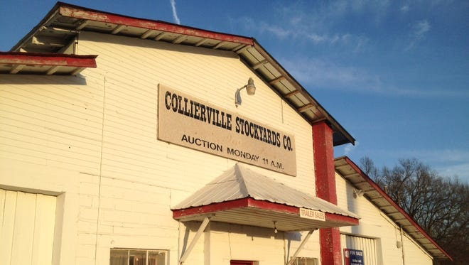 The old Collierville Stockyards building on U.S. 72 is up for sale.