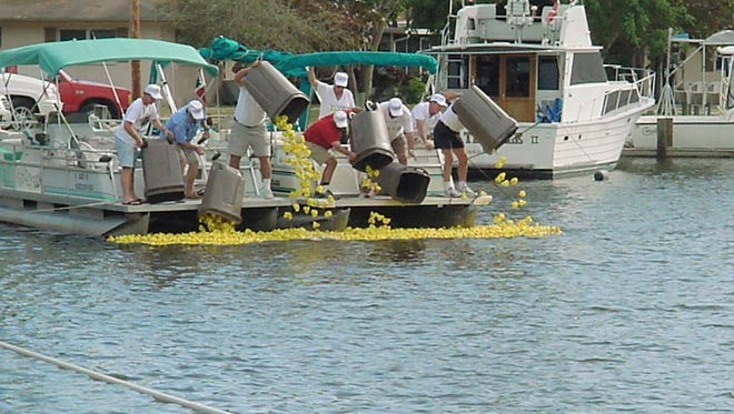 The 19th annual Great Rubber Duck Race to benefit the Calusa Land Trust will begin at noon on March 4 at Low Key Tiki, St. James City on Pine Island.
