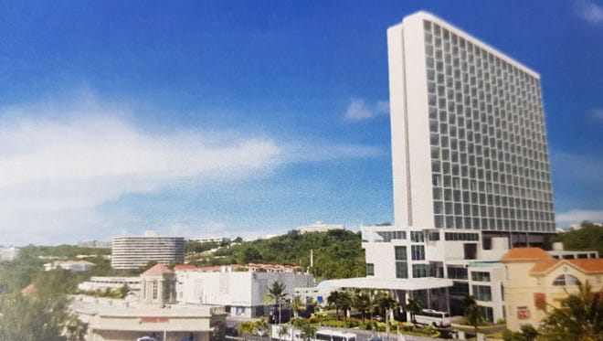 A photo of a rendering of Blue Ocean Residence that will be built on 2.38 acres in Tumon near the Tumon Sands Plaza.