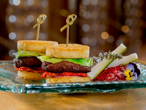 Ramen Sliders, created by executive chef Joseph Elevado, are available at Andrea's, the Asian dining hotspot in Encore at Wynn Las Vegas.