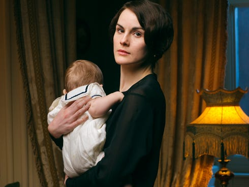 Expect 'Downton Abbey' to spend more time on Mary's (Michelle Dockery) suitors than her son.