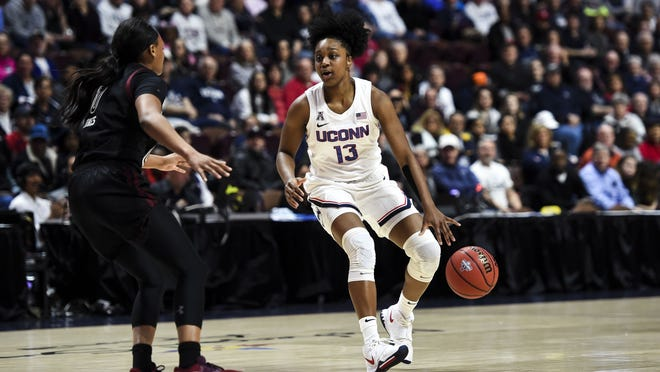 UConn's Christyn Williams, disappointed in her play as a sophomore, returns in better shape, saying she feels quicker and more confident.