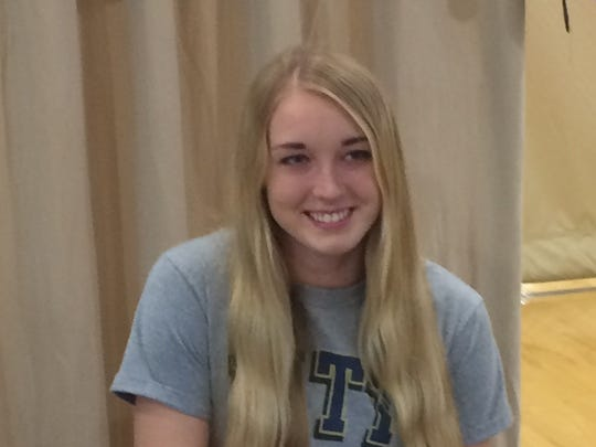 Senior Xavier Prep volleyball player Alix Dreier signs her national letter of intent Wednesday to attend Pittsburgh.