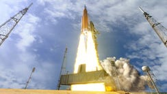 Concept image of a NASA Space Launch System rocket