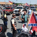 Tom Drummond, of Newark, was among a group from throughout Delaware that participated in a Confederate flag rally from Greenwood to Delmar, Harrington, Milford, Georgetown.