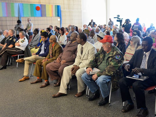 A diverse crowd packed the room Tuesday for the discussion