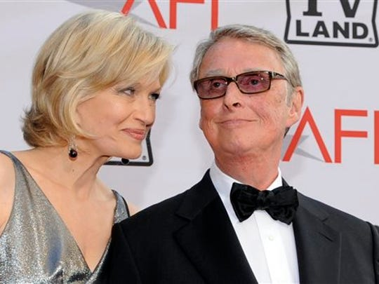 Journalist Diane Sawyer and director Mike Nichols arrive at the AFI Lifetime Achievement Awards honoring Mike Nichols, at Sony Pictures Studios in this June 10, 2010 file photo taken in Culver City, Calif.