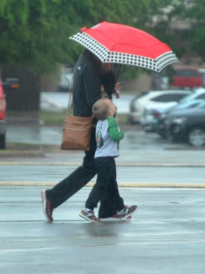 Wichita Falls received rain Tuesday night into Wednesday morning as a large system weather system stretching as far north as South Dakota moved across the area.