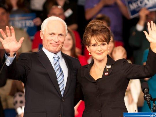 Ed Harris as John McCain and Julianne Moore as Sarah