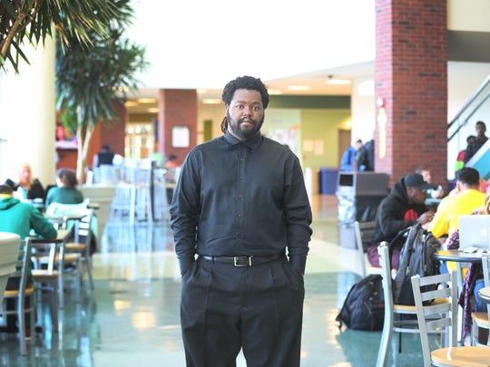 Michael Wood, a senior at Eastern Michigan University,