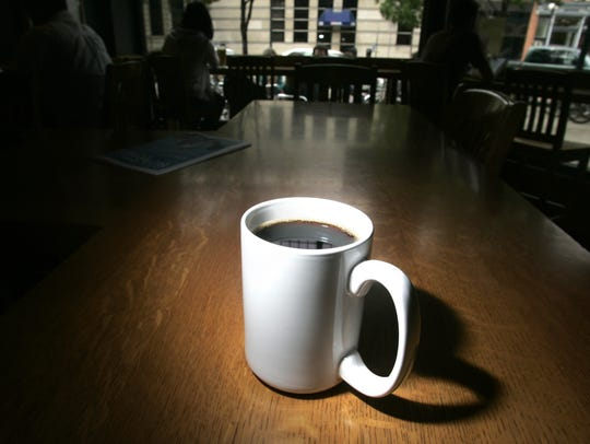 """A cup of """"Giant of the Earth,"""" at the Java House, Tuesday"""