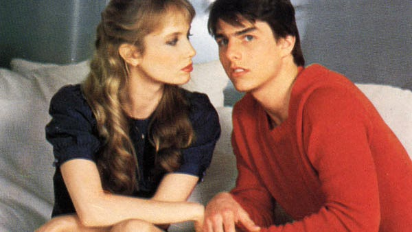 """Rebecca de Mornay and Tom Cruise from the 1983 film """"Risky Business."""""""